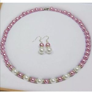 New pearl necklace and earring set classic